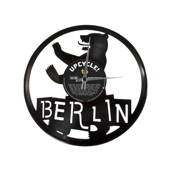 Disc o clock wanduhr berlin aus schallplatte avocadostore - Wanduhr schallplatte ...