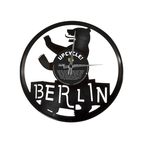 disc o clock wanduhr berlin aus schallplatte avocadostore. Black Bedroom Furniture Sets. Home Design Ideas