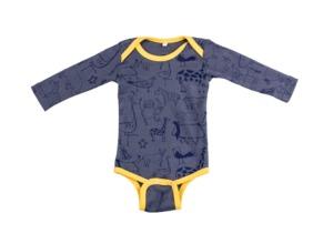 Kipepeo Baby- Body 'Karibu Duniani'  langarm - Kipepeo-Clothing