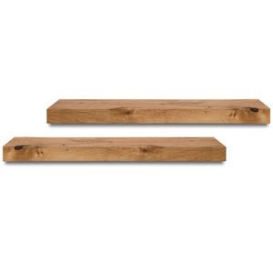 Balkenregal Eiche Massivholz Holzbalken Regal Wandregal Wandboard - GreenHaus
