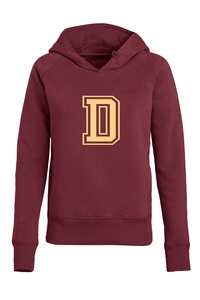 Damen Hoodie 'College' Burgundy - University of Soul