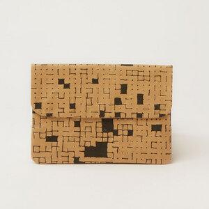 iPad Mini Hülle oder Clutch   Dots & Squares Black - The Wren Design