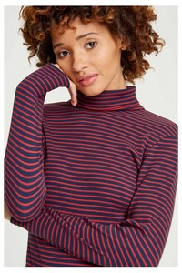 Daya Roll Neck Top Navy - People Tree