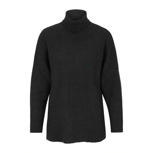 Turtle Neck Sweater - Black - Les Racines Du Ciel