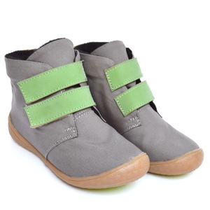 Kids One vegane Kinderschuhe Grey + Green / Yellow - SORBAS