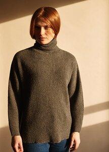 Turtle Neck Sweater - Black - Les Racines Du Ciel