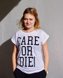 CARE OR DIE Frauen T-Shirt - Avocado Store
