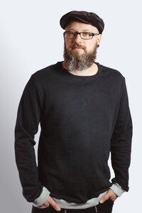 Sweater Men 'Heada' schwarz / Bündchen hgrau - Frija Omina