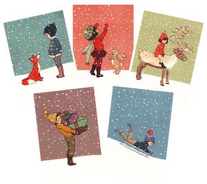 Postkarten-Set Weihnachten - 1973