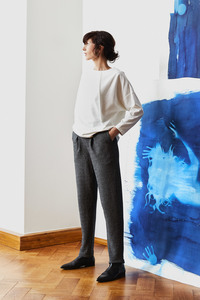 Hose aus zart gemusterter Bio-Baumwolle  - LUXAA