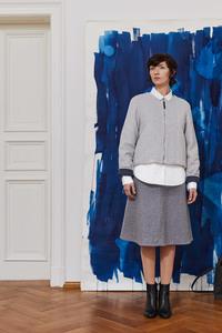Warme Jacke aus Bio-Baumwoll-Fleece blau - LUXAA