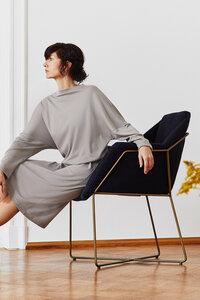 Oversize Kleid aus Bio-Jersey taupe - LUXAA