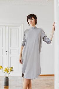 Kleid mit rundem Saum aus Bio-Baumwoll-Jersey - LUXAA