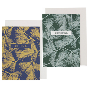 Grußkarte Tannenzweige in 2 Farben - ava&yves