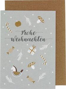 """Weihnachtskarte """"Schaukelpferd und Zuckerstange"""" - ava&yves"""