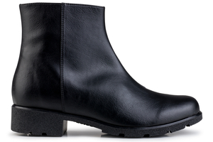 Grip+ Ankle Boot Black - Eco Vegan Shoes