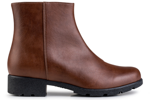 Grip+ Ankle Boot Brown - Eco Vegan Shoes