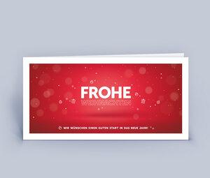 Weihnachtskarten DIN Lang mit exklusivem Design im 10ér Set - Eco-Cards