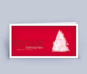 Weihnachtskarten DIN Lang mit Baum aus Dreiecken im 10ér Set - Eco-Cards
