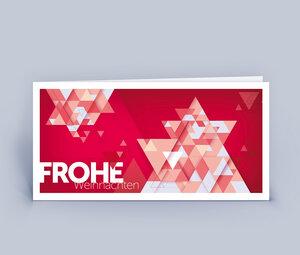 Weihnachtskarten DIN Lang mit originellem Stern im 10ér Set - Eco-Cards