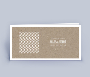 Weihnachtskarten DIN Lang mit modernem Design 10ér Set - Eco-Cards