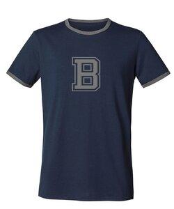 """Herren T-Shirt """"College"""" Navy / Mid Heather Grey - University of Soul"""