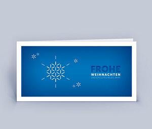 Weihnachtskarten DIN Lang mit Schneeflocke im 10ér Set - Eco-Cards