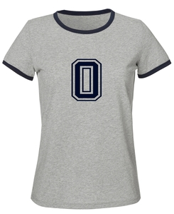 Damen T-Shirt 'College' Heather Grey / French Navy - University of Soul