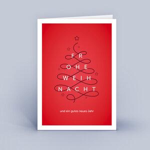 Weihnachtskarten DIN A6 - Linie - im 10ér Set - Eco-Cards