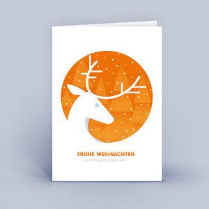 Weihnachtskarten DIN A6 - mit Hirsch - im 10ér Set - Eco-Cards