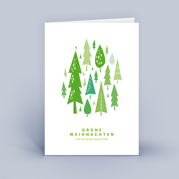 eco cards weihnachtskarten din a6 wald im 10 r set avocadostore. Black Bedroom Furniture Sets. Home Design Ideas