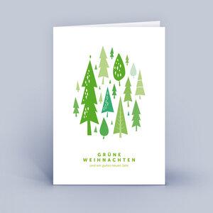 Weihnachtskarten DIN A6 - Wald - im 10ér Set - Eco-Cards