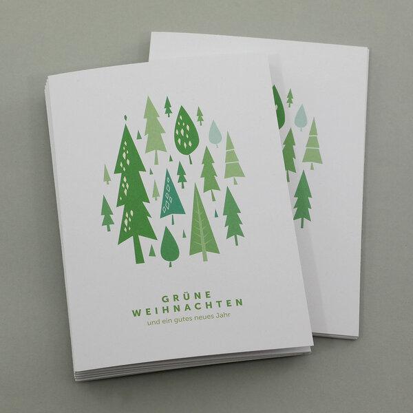eco cards weihnachtskarten din a6 wald im 10 r set. Black Bedroom Furniture Sets. Home Design Ideas