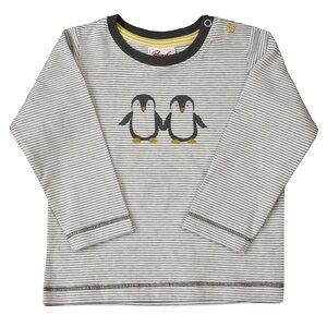 Baby Langarmshirt grau geringelt Bio Baumwolle People Wear Organic - People Wear Organic