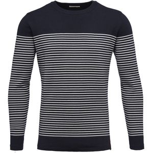 Striped O-Neck Knit - KnowledgeCotton Apparel