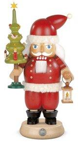 Müller  Nussknacker Weihnachtsmann mit Baum 23 cm, -  aus nachhaltiger Waldwirtschaft - Müller Seiffen