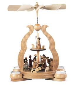 Bogenpyramide Christi Geburt für 4 Teelichter Erzgebirge - Müller Seiffen