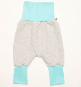 Sweat Babypumphose 'Sweat Hellgrau/Mint' aus 100% Bio-Baumwolle - Cheeky Apple