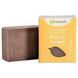 BIO Seife mit Honig und Lavendel 100g - laSaponaria
