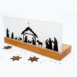 Weihnachtskrippe Bethlehem (Eiche) - klotzaufklotz