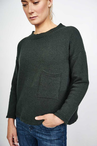 Mara Green Wool Jumper - bibico