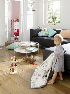 Babydecke und Kinderdecke Lovely & Sweet  Kitty Nature 75 x 100 cm  - biederlack