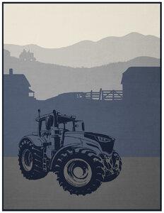 Trendige Kinder und Jugenddecke Young & Fancy Traktor 150 x 200 cm  - biederlack