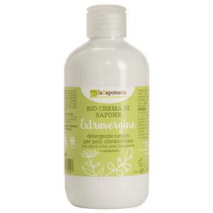 BIO Creme-Waschlotion mit nativem Olivenöl 250ml - laSaponaria