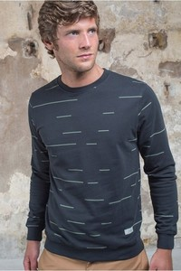 Sweatshirt - Horizontal Lines Sweat Phantom - thinking mu