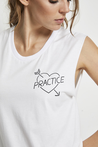 SHIRT 'WE LOVE PRACTICE' WHITE - Hati-Hati