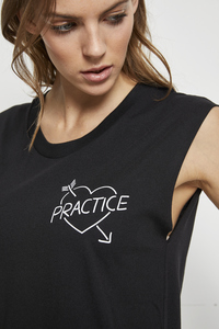 SHIRT 'WE LOVE PRACTICE' BLACK - Hati-Hati