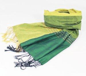 Softer Baumwollschal grün - Schönes aus Indochina