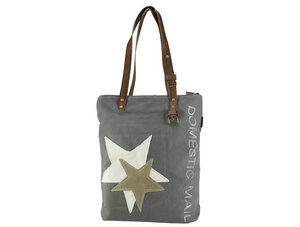 Sunsa Vintage Canvas Shopper 'Star' - Sunsa