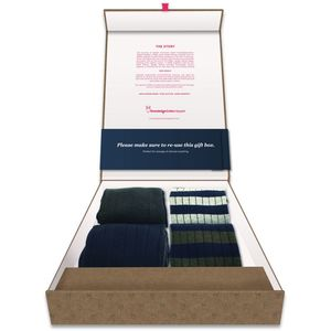 Gift Box Tennis Socks - KnowledgeCotton Apparel